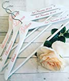 Wedding Hangers, Personalised Hangers, Bride, Bridesmaid, Maid of Honour, Mother of the Bride/Groom, Flower Girl, Groom, Best Man, Usher