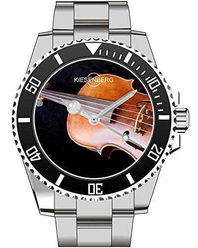 Geige Violine Geiger Musik Geigenspieler Geschenk Fan Artikel Zubehör Fanartikel Uhr 2211