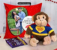 TIED RIBBONS Valentine Gift for Husband, Wife, Him, Her, Combo (Personalized Cushion Cover (12