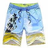 QIYUN.Z Mens Jungen Sommer Casual Printing Badehose Surfbrett Strand Shorts