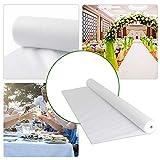 FUNTELL Tischdeckenrolle weiß, Oeko-TEX® 100,Tischtuch Meterware Tischwäsche, stoffähnliches Vlies, Ideal für Party Catering Vereinsfeier Geburtstag (1.2 m × 25 m)