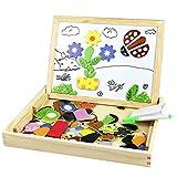 DoBestLJZ Magnetisches Holzpuzzles Puzzles Zeichnung Holzbrett Spielzeug Lernspielzeug Staffelei Doodle Lernspiel Spiel für Kinder Jungs Mädchen 3 4 5 Jahren Alt (Animal)