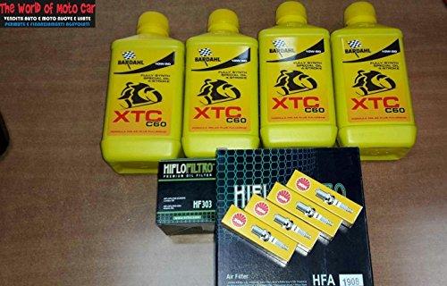 KIT TAGLIANDO VT 1100 C2 SHADOW 95/98 FILTRO OLIO ARIA CANDELE 4L BARDAHL 10W50