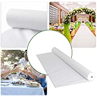 FUNTELL Tischdeckenrolle weiß, Tischtuch Meterware Tischwäsche, stoffähnliches Vlies, Ideal für Party Catering Vereinsfeier Geburtstag