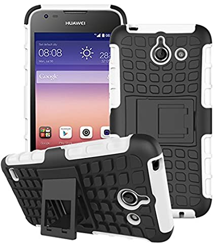 Huawei Ascend Y550 Hülle Nnopbeclik Hybrid 2in1 TPU+PC Schutzhülle Cover