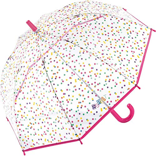 ESPRIT Domeshape Kids Colored Dots Kindergarten Stockschirm Kinderschirm Regenschirm 50821