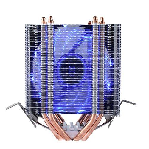 Multkompatibel upHere Prozessorkühler mit 92 mm PWM Lüfter - CPU Kühler für AMD und Intel Sockel bis Kühlleistung Dual-Tower Konstruktion Mit voraufgetragener MX-4 Wärmeleitpaste