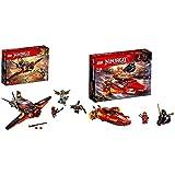 LEGO Ninjago Katana V11 70638 - Cooles Kinderspielzeug &  70650 Flügel-Speeder Bunt,...