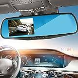 Sedeta 1080P HD de coches video de la conducción Espejo retrovisor con Dash Cam 2.8inch delantera y trasera cámara del estacionamiento de TFT Vista posterior Cámara de visión nocturna