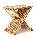 Deliano Genuss und gut! Design Beistelltisch Klapptisch Kautschuk Holz 40x43cm klappbar Balkontisch Holztisch Gartentisch Garten Sofa Bett Couch
