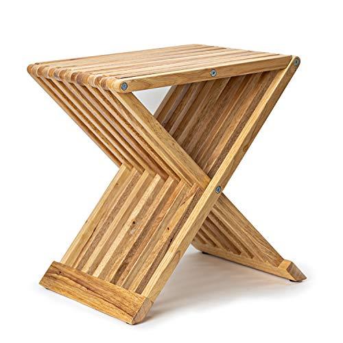 Deliano - Mesa Auxiliar Plegable de diseño, de Madera de Caucho, Plegable, para sofá, Cama y sofá