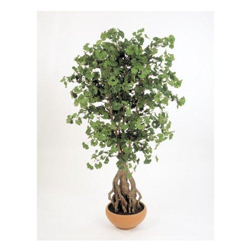 Albero di Ginkgo artificiale in vaso decorativo, 1095 foglie, verde, 170 cm - Pianta giapponese / Albero ornamentale - artplants