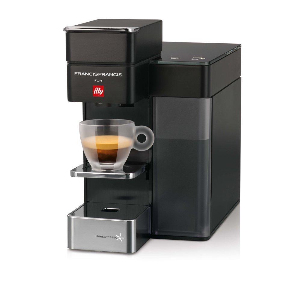 illy Macchina da Caffè a Capsule Iperespresso Y5 Espresso&Coffee, Nero
