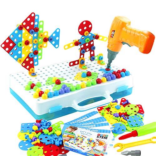jerryvon Jeu de Construction Puzzle 3D Mosaïque Enfant Loisirs...