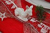 Fibula[Style]® Komplettset Rehlein Rieke Stilvolle Komplette Tischdekoration für Weihnachten/Advent/Winter für ca. 8-10 Personen in Rot-Weiß - 2