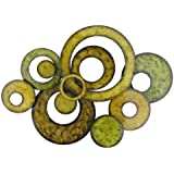 Pacific Home Metal Wall Art Circle Design In Green