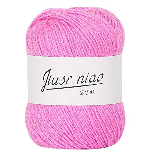 FeiliandaJJ 50g 13 Farben Wolle Zum Stricken & Häkeln Handstrickgarn,Hautpflege Kaschmir Milch Baumwolle,Einfarbig Super Weich Wolle Perfekt für Hüte Pullover Schal (I)