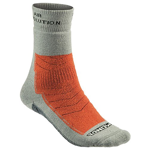 Meindl Air Revolution Pro Socken, grau/orange, 36 bis 39 (Pro Dry Sport-socke)