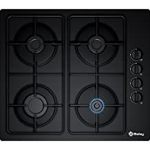 Balay 3ETG464MB Integrado Encimera de gas Negro hobs - Placa (Integrado, Encimera de gas, Negro, 1000 W, 1700 W, 1700 W)