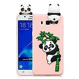 Huphant Samsung J5 2016 Case Silikon, Silikon Case Cartoon Panda Samsung Galaxy J5 2016 Weiche Silikon TPU Bumper Case Panda,Ultra dünn Schutzhülle für Samsung Galaxy A5 2020 -Hellblauer Panda
