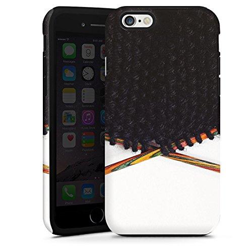 Apple iPhone 5s Housse Outdoor Étui militaire Coque Laine Noir Motif Cas Tough terne
