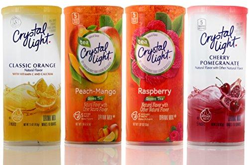 crystal-light-4-pack-green-tea-raspberry-green-tea-peach-mango-classic-orange-cherry-pomegranate