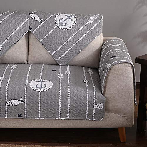 TT&CC Dunklen nordischen Stil Stoff 100% Baumwolle Sofa Kissen Dauerhaft Vier Jahreszeiten Einfache Moderne Universal Sofa Handtuch Sofa im Wohnzimmer Umfasst-L 90x70cm(35x28inch)