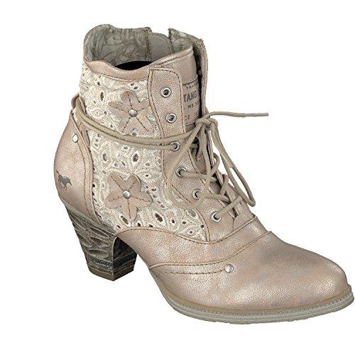 Mustang Schnür Stiefelette 1255-506 Damen Schuhe Bootie, Schuhgröße:37;Farbe:Braun