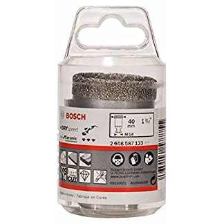 Bosch 2 608 587 123 – Coronas de diamante para perforación en seco Dry Speed Best for Ceramic (40 x 35 mm)
