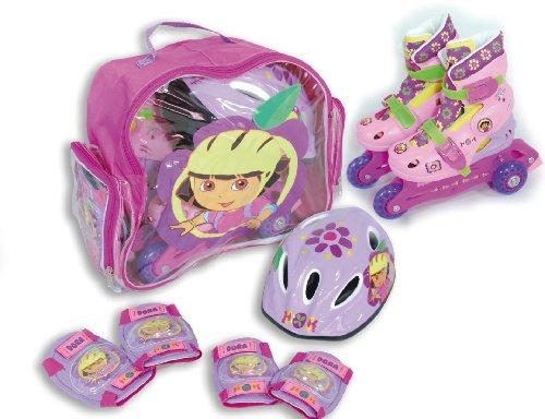 Original Dora Kinder Inlineskates/Inliner Skates Set Gr. 12,5,–86,4cm, Schlittschuhe mit Schutz und Helm Tasche–fit4form-