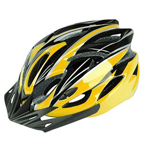Six Foxes Fahrradhelm, Unisex Erwachsenen Fahrradhelm Rennradhelm mit abnehmbarem Visier und Futter, verstellbarem Thrasher (gelb)