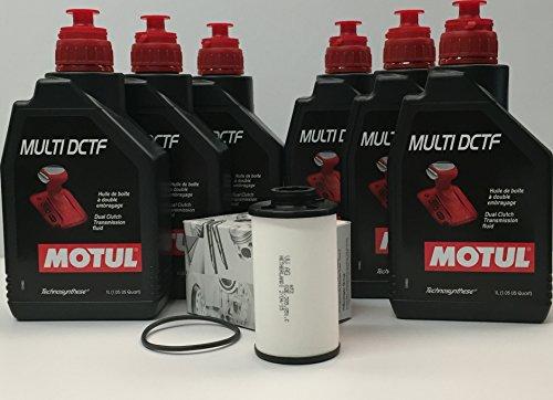 Pack de 6 litros y filtro original. Lubricante Technosynthese de altas prestaciones diseñado para las cajas de velocidades automáticas y transmisiones automatizadas de doble embrague del tipo DCT (Dual Cluth Transmission).