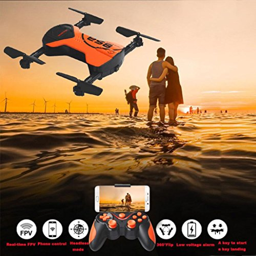 QUINTRA 2.4G 4CH Höhe Halten HD Kamera WIFI FPV RC Quadcopter Drone Selfie Faltbare (Navigator Video Pocket)