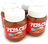Pepa-Crem. Crema de cacao y avellanas sin grasa de palma para untar. Pack 4 tarros de 400 g/tarro.