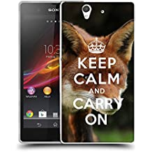 Super Galaxy Coque de Protection TPU Silicone Case pour // Q01012834 keep calm and carry on 585 // Sony Xperia Z L36H C6603