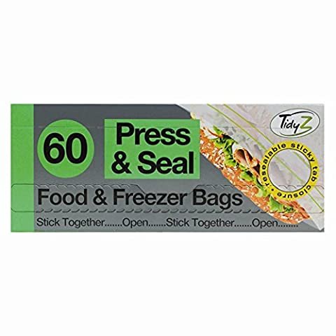 120 Press & Seal Food & Freezer Bags /2 packs