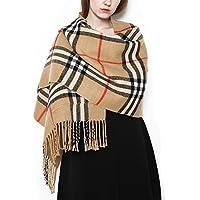 Tartan Écharpe avec poches pour femme Long Châle Grande classique élégant style de Écosse toutes les saisons en cachemire Super épais