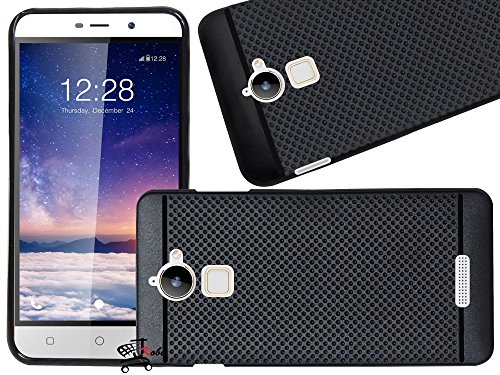 Jkobi Classic Look DOTTED DESIGNED Soft Rubberised Back Case Cover For COOLPAD NOTE 3 LITE (5.0 INCH)-BLACK