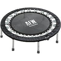 AFW 106012 - Trampolín Profesional Plegable, 112 cm de diámetro, Color Negro, Talla M