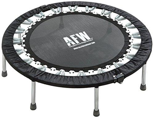 AFW 106012 106012-Trampolín Profesional Plegable, 112 cm de diámetro, Color, Talla M, Hombres, Negro, U
