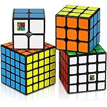 Aiduy Cubo mágico de velocidad profesional Juego de 2x2 3x3 4x4 5x5 con paquete de caja de regalo, Cubo Mágico Inteligencia Juego de Puzzle