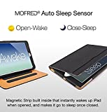 MOFRED® Black & Tan Apple iPad Air 2 (Launched 2014) Leather Case-Executive Multi Function Leather Standby Case for Apple iPad Air 2 with Built-in magnet for Sleep & Awake Feature Bild 6