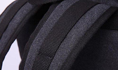 Einfache Großraum-Segeltuchrucksack-Männer Schulter Im Freien Reisen Schulterbeutel Black