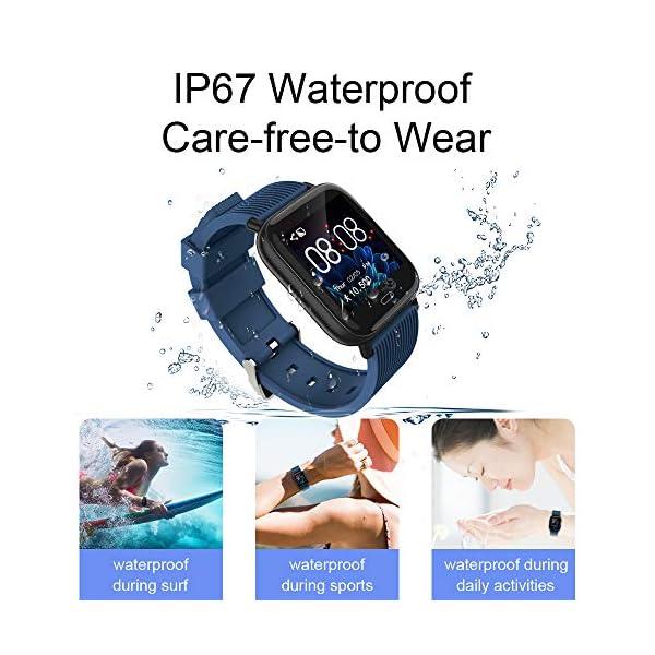 Ayete Smartwatch Fitness Tracker con frecuencia cardíaca Monitoreo de la presión Arterial Salud Deporte Reloj… 4