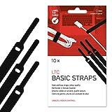 Label-the-cable fascette chiusura a strappo, etichetta cavo universale, effetto velluto, cavi in ordine, controllo cavi, LTC BASIC, 10 pezzi, 170mm, nero, LTC 1110