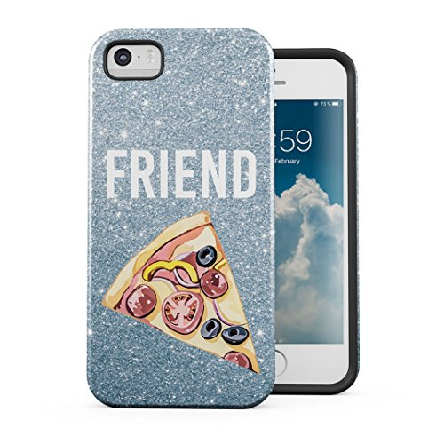 Pizza Food Friend Best Friends Girlfriend Matching Case for Birthday Case Cover Kompatibel mit iPhone 5 / 5s / SE Hülle 2-Teilig, Doppellagig: PC + TPU Robuste Handyhülle (Pizza Phone Iphone Case 5)