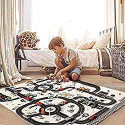 Steerfr Kids Play Mat City Play Mat Fun Town Cars Gioca Road Carpet Con Auto E Cartello Stradale Bambini Educational Road Traffic Play Mat