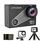 Virtoba Elite X Action Camera 4K/1080P 30FPS WiFi Sport Videocamera Subacquea Action Cam con Display LCD 2 '' (con case) 30M, Vista Grandangolare 170 Gradi, 2 Batterie Ricaricabili 1050mAh, Treppiede e Kit di Accessori di Montaggio