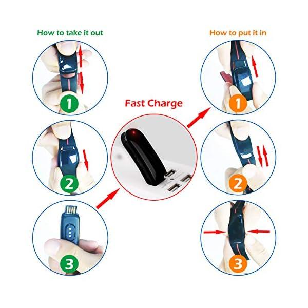 CHEREEKI Pulsera Actividad, Fitness Tracker IP68 Impermeable Monitor de Frecuencia Cardiaca 14 Modos de Ejercicio/Control de Música/Cronómetro/Recordatorio Sedentario/SMS Push 7