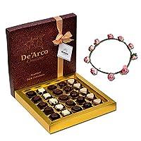 De'Arco Chocolatier Valentines Day Chocolate Gift, Premium Luxury Chocolates, 25pcs + Free Tiara